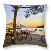 An Evening In Rovinj - Croatia Throw Pillow