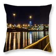 An Evening In Sioux City Throw Pillow