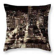 An Evening Love Affair Throw Pillow
