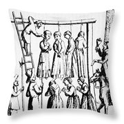 An Execution Of Witches In England Throw Pillow
