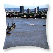 An Expansive View From The Tower Bridge Throw Pillow
