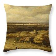 An Extensive Landscape Throw Pillow