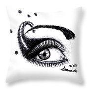 An Eye For Art Throw Pillow