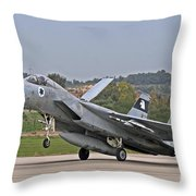 An F-15a Baz Of The Israeli Air Force Throw Pillow