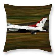An F-16 Thunderbird Of The U.s. Air Throw Pillow