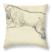 An Illustration Of A Dog Throw Pillow