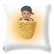 An Image Of A Photograph Of Your Child. - 03 Throw Pillow