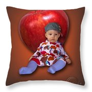 An Image Of A Photograph Of Your Child. - 04 Throw Pillow