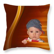 An Image Of A Photograph Of Your Child. - 05 Throw Pillow