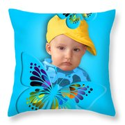An Image Of A Photograph Of Your Child. - 06 Throw Pillow