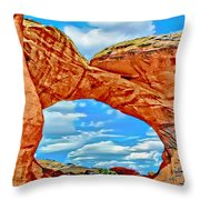 An Impression Of Arches National Park Throw Pillow