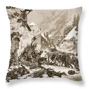 An Incident In The Battle Throw Pillow