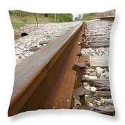 An Inspection Failure Of Train Tracks 6 Throw Pillow