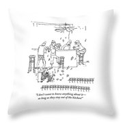 An Invasion Of Dancing Mice And A Cat Pianist Throw Pillow