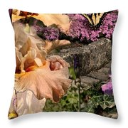 An Iris Surprise Center Throw Pillow