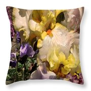 An Iris Surprise Right Throw Pillow