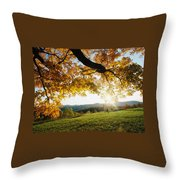 Sunset Over The Hill. Throw Pillow