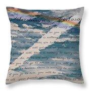 An Irishman's Philosophy Throw Pillow