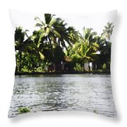 An Isolated Cottage On A Small Piece Of Land Throw Pillow