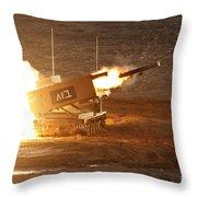 An Israel Defense Force Artillery Core Throw Pillow