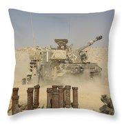 An Israel Defense Force Artillery Corps Throw Pillow