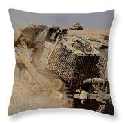 An Israel Defense Force Caterpillar D-9 Throw Pillow