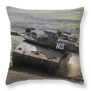 An Israel Defense Force Merkava Mark Iv Throw Pillow