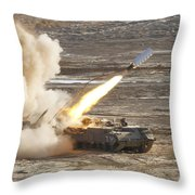 An Israel Defense Force Puma M26 Throw Pillow