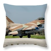 An Israeli Air Force F-16c Throw Pillow