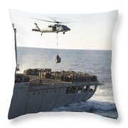 An Mh-60s Sea Hawk Helicopter Carries Throw Pillow
