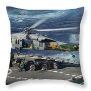 An Mh-60s Sea Hawk Helicopter Picks Throw Pillow