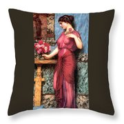 An Offering To Venus Throw Pillow