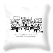 An Office Of Male Tech Entrepreneurs Throw Pillow