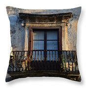 An Old Balcony In Syracuse Throw Pillow