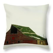 An Old Barn In Northeast Montana Throw Pillow