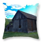 An Old Barn In The Sage Throw Pillow