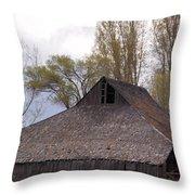 An Old Barn Near Klamath Falls Throw Pillow