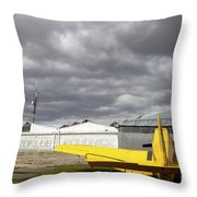 An Old Communist-era Zlin Z-37a Crop Throw Pillow
