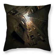 An Old Courtyard Throw Pillow