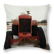 An Old Dase Tractor Throw Pillow