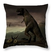An Old-fashioned Depiction Throw Pillow