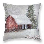 An Old Fashioned Merry Christmas Throw Pillow