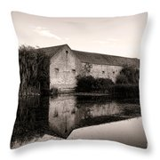 An Old Fortified Farm Throw Pillow by Olivier Le Queinec
