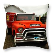 An Old Gmc  Throw Pillow by Jeff Swan