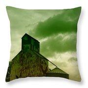 An Old Grain Silo In Eastern Montana Throw Pillow