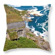 An Old  Hydroelectric Generating Station Throw Pillow