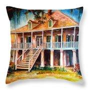 An Old Louisiana Planters House Throw Pillow