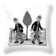 An Old Man And A Young Man Dressed Identically Throw Pillow