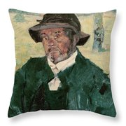 An Old Man, Celeyran, 1882 Oil On Canvas Throw Pillow