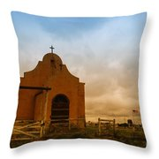 An Old Mission In Northeastern Montana Throw Pillow
